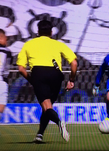 Referee wearing RefereeSpray